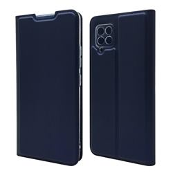 Ultra Slim Card Magnetic Automatic Suction Leather Wallet Case for Samsung Galaxy A42 5G - Royal Blue