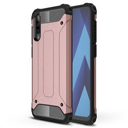 King Kong Armor Premium Shockproof Dual Layer Rugged Hard Cover for Samsung Galaxy A50 - Rose Gold