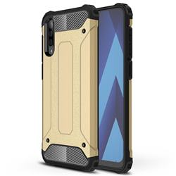 King Kong Armor Premium Shockproof Dual Layer Rugged Hard Cover for Samsung Galaxy A50 - Champagne Gold