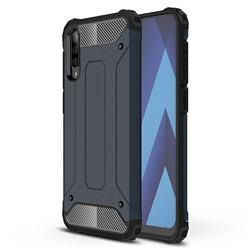 King Kong Armor Premium Shockproof Dual Layer Rugged Hard Cover for Samsung Galaxy A50 - Navy