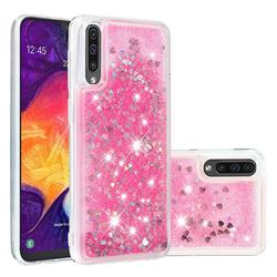 Dynamic Liquid Glitter Quicksand Sequins TPU Phone Case for Samsung Galaxy A50 - Rose