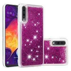 Dynamic Liquid Glitter Quicksand Sequins TPU Phone Case for Samsung Galaxy A50 - Purple