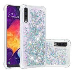 Dynamic Liquid Glitter Sand Quicksand Star TPU Case for Samsung Galaxy A50 - Silver