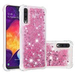 Dynamic Liquid Glitter Sand Quicksand Star TPU Case for Samsung Galaxy A50 - Diamond Rose