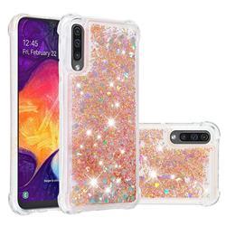 Dynamic Liquid Glitter Sand Quicksand Star TPU Case for Samsung Galaxy A50 - Diamond Gold