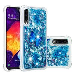 Flower Butterfly Dynamic Liquid Glitter Sand Quicksand Star TPU Case for Samsung Galaxy A50