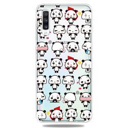 Mini Panda Clear Varnish Soft Phone Back Cover for Samsung Galaxy A50