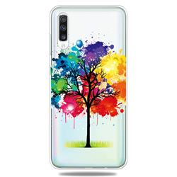 Oil Painting Tree Clear Varnish Soft Phone Back Cover for Samsung Galaxy A50