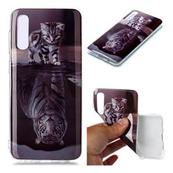 Cat and Tiger Soft TPU Cell Phone Back Cover for Samsung Galaxy A50