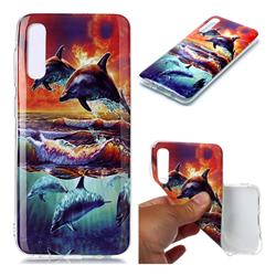 Flying Dolphin Soft TPU Cell Phone Back Cover for Samsung Galaxy A50
