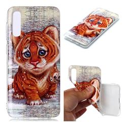 Cute Tiger Baby Soft TPU Cell Phone Back Cover for Samsung Galaxy A50