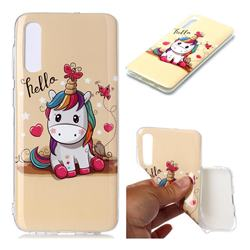 Hello Unicorn Soft TPU Cell Phone Back Cover for Samsung Galaxy A50