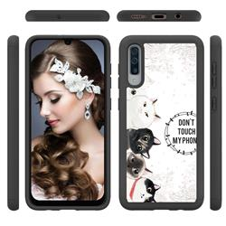 Cute Kittens Shock Absorbing Hybrid Defender Rugged Phone Case Cover for Samsung Galaxy A50