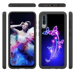 Dancing Butterflies Shock Absorbing Hybrid Defender Rugged Phone Case Cover for Samsung Galaxy A50