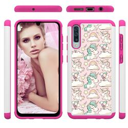 Pink Pony Shock Absorbing Hybrid Defender Rugged Phone Case Cover for Samsung Galaxy A50