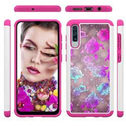 peony Flower Shock Absorbing Hybrid Defender Rugged Phone Case Cover for Samsung Galaxy A50