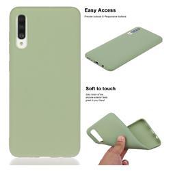 Soft Matte Silicone Phone Cover for Samsung Galaxy A50 - Bean Green