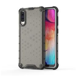 Honeycomb TPU + PC Hybrid Armor Shockproof Case Cover for Samsung Galaxy A50 - Gray