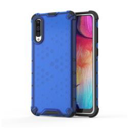 Honeycomb TPU + PC Hybrid Armor Shockproof Case Cover for Samsung Galaxy A50 - Blue