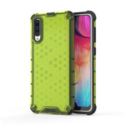 Honeycomb TPU + PC Hybrid Armor Shockproof Case Cover for Samsung Galaxy A50 - Green