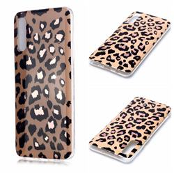 Leopard Galvanized Rose Gold Marble Phone Back Cover for Samsung Galaxy A50