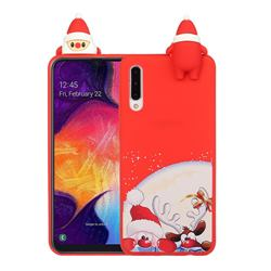 Santa Claus Elk Christmas Xmax Soft 3D Doll Silicone Case for Samsung Galaxy A50