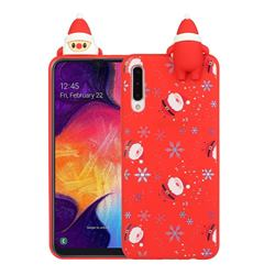Snowflakes Gloves Christmas Xmax Soft 3D Doll Silicone Case for Samsung Galaxy A50