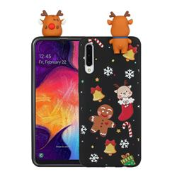 Gift Snow Christmas Xmax Soft 3D Doll Silicone Case for Samsung Galaxy A50