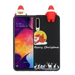 Santa Elk on Moon Christmas Xmax Soft 3D Doll Silicone Case for Samsung Galaxy A50