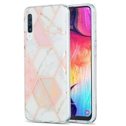 Pink White Marble Pattern Galvanized Electroplating Protective Case Cover for Samsung Galaxy A50