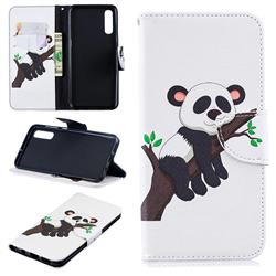 Tree Panda Leather Wallet Case for Samsung Galaxy A50