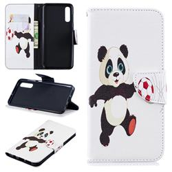 Football Panda Leather Wallet Case for Samsung Galaxy A50