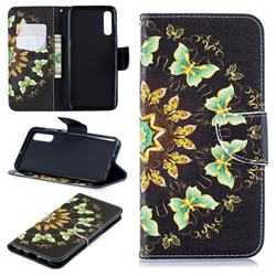 Circle Butterflies Leather Wallet Case for Samsung Galaxy A50