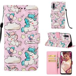Angel Pony 3D Painted Leather Wallet Case for Samsung Galaxy A50