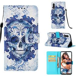 Cloud Kito 3D Painted Leather Wallet Case for Samsung Galaxy A50