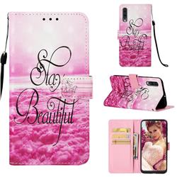 Beautiful 3D Painted Leather Wallet Case for Samsung Galaxy A50