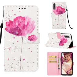Watercolor 3D Painted Leather Wallet Case for Samsung Galaxy A50