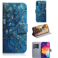 Apricot Tree PU Leather Wallet Case for Samsung Galaxy A50