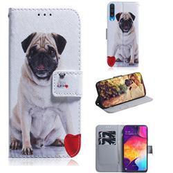 Pug Dog PU Leather Wallet Case for Samsung Galaxy A50