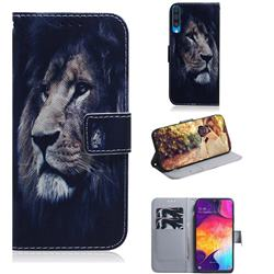 Lion Face PU Leather Wallet Case for Samsung Galaxy A50