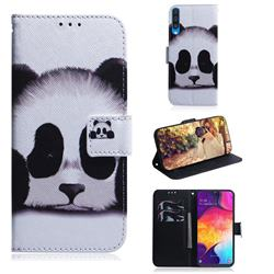 Sleeping Panda PU Leather Wallet Case for Samsung Galaxy A50