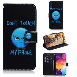 Not Touch My Phone PU Leather Wallet Case for Samsung Galaxy A50