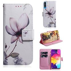 Magnolia Flower PU Leather Wallet Case for Samsung Galaxy A50