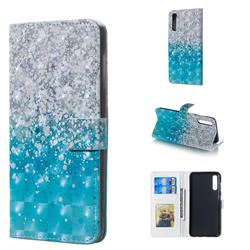 Sea Sand 3D Painted Leather Phone Wallet Case for Samsung Galaxy A50