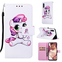 Playful Pony Matte Leather Wallet Phone Case for Samsung Galaxy A50