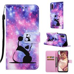Panda Baby Matte Leather Wallet Phone Case for Samsung Galaxy A50