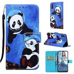 Undersea Panda Matte Leather Wallet Phone Case for Samsung Galaxy A50