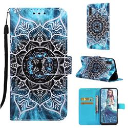 Underwater Mandala Matte Leather Wallet Phone Case for Samsung Galaxy A50