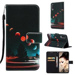 Wandering Earth Matte Leather Wallet Phone Case for Samsung Galaxy A50