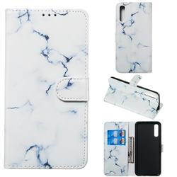 Soft White Marble PU Leather Wallet Case for Samsung Galaxy A50